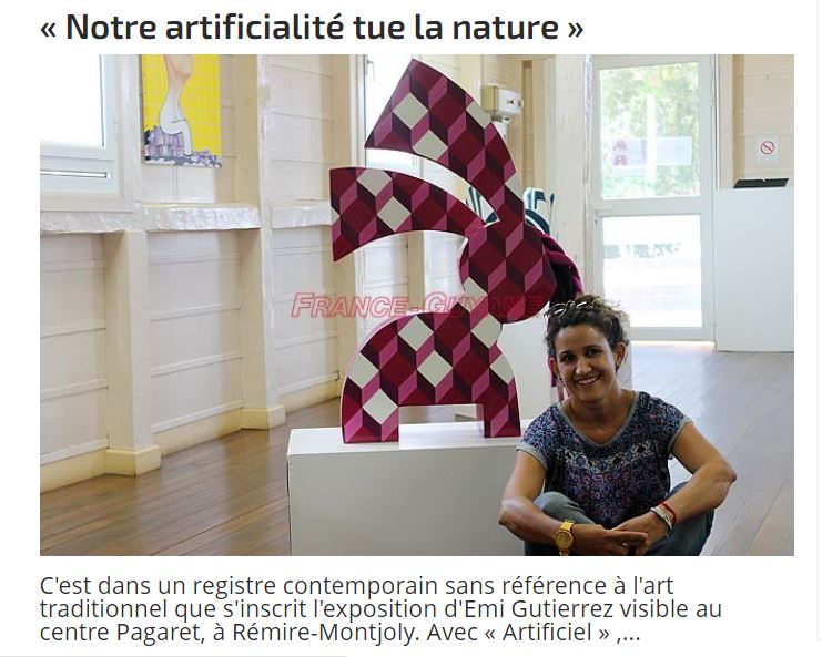 Interview dans «Le Mag» Supplement Culturel Quotidien - Edition Guyane, 2017.